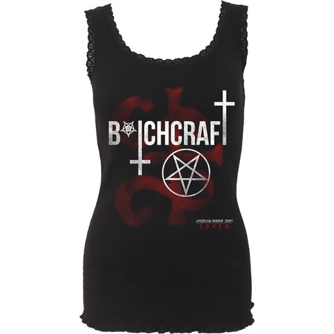 COVEN - BITCHCRAFT - AHS Crochet Collar Ribbed Vest - Spiral USA