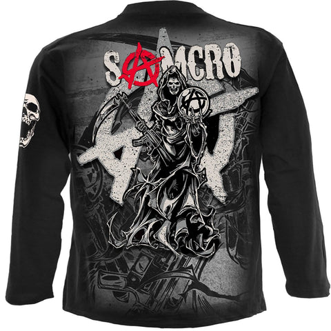 Image of REAPER MONTAGE - Sons of Anarchy Longsleeve Black - Spiral USA