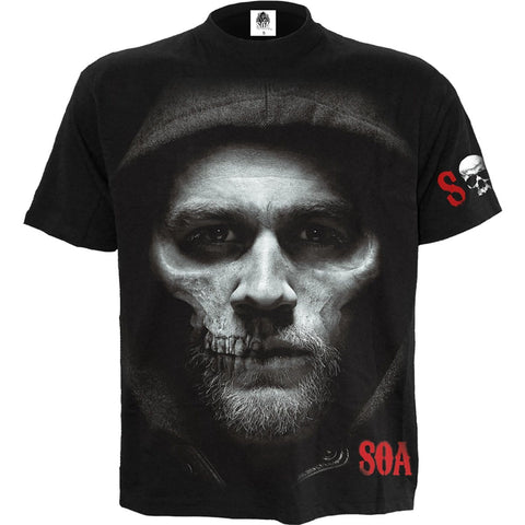 JAX SKULL - Sons of Anarchy T-Shirt Black - Spiral USA