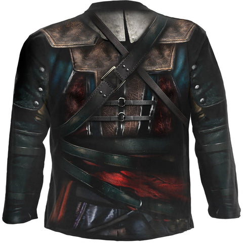 ASSASSINS CREED IV BLACK FLAG - Allover Licensed Longsleeve T-Shirt Black