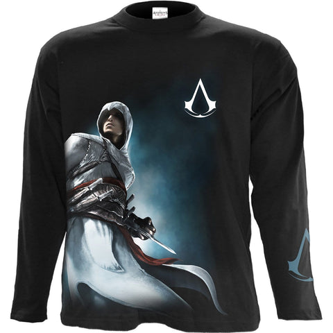 Image of ALTAIR SIDE PRINT - Assassins Creed Longsleeve Black - Spiral USA