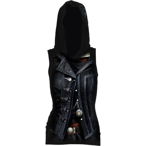 Image of SYNDICATE EVIE - Allover Licensed Sleeveless Gothic Hood - Spiral USA