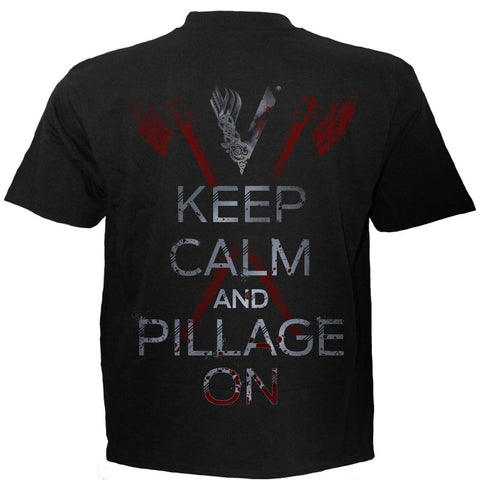 Image of ROLLO AXE - KEEP CALM - Vikings T-Shirt Black - Spiral USA