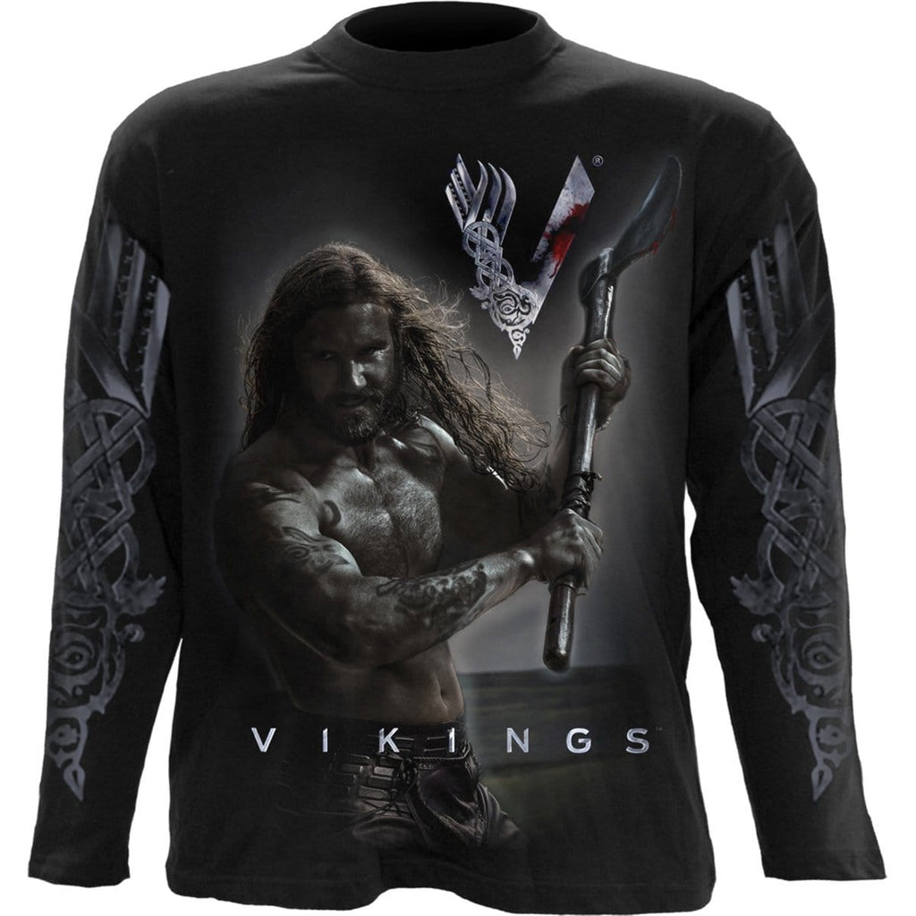 ROLLO AXE - KEEP CALM - Vikings Longsleeve Black - Spiral USA