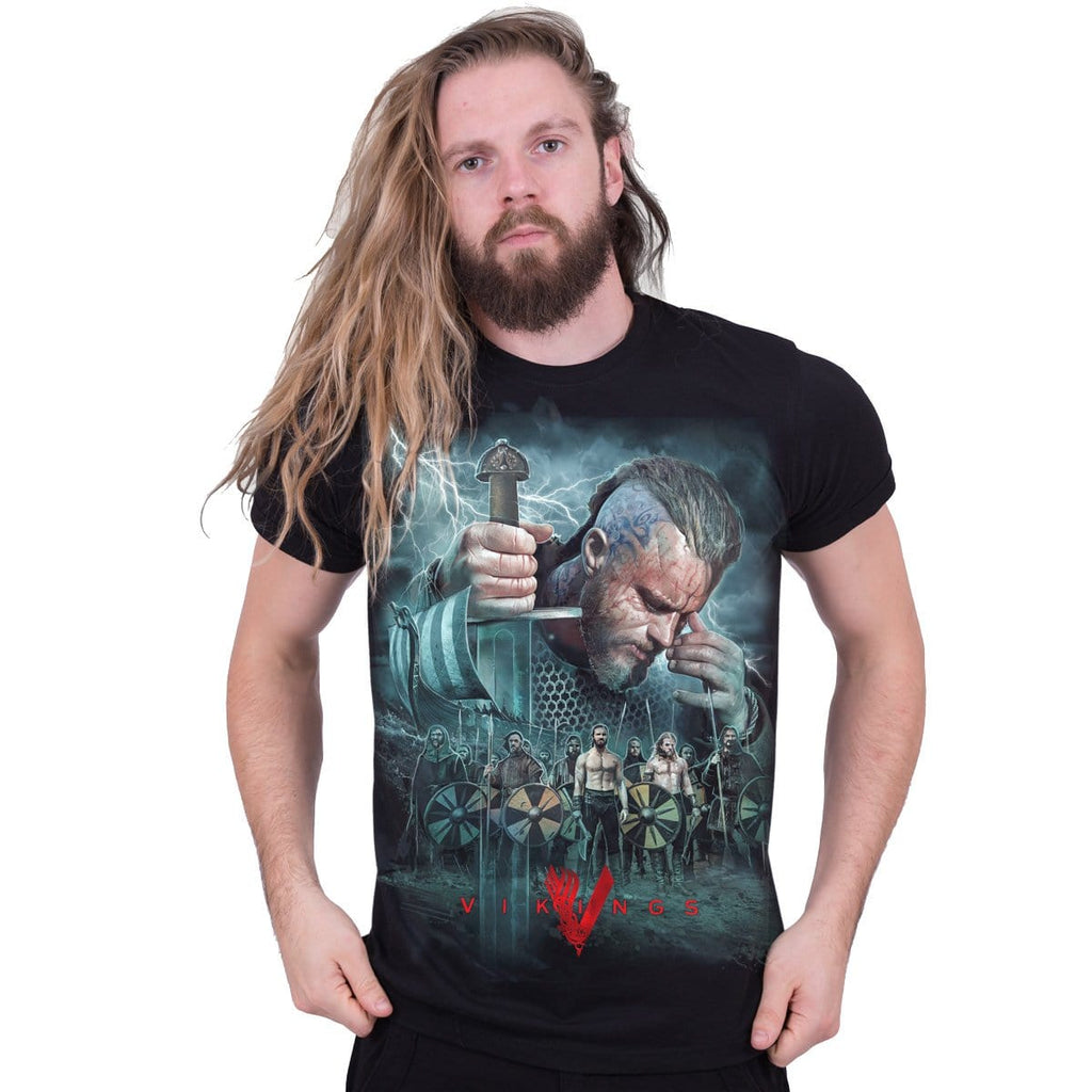 VIKINGS - BATTLE - Vikings T-Shirt Black - Spiral USA