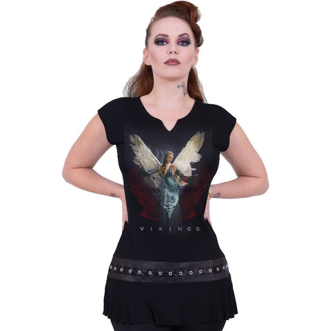 VIKINGS - ANGEL - Vikings Stud Waist Mini Dress Black - Spiral USA