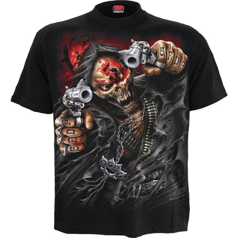 Image of 5FDP - ASSASSIN - Licensed Band T-Shirt Black - Spiral USA