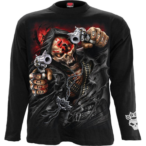 Image of 5FDP - ASSASSIN - Licensed Band Long Sleeve Black - Spiral USA