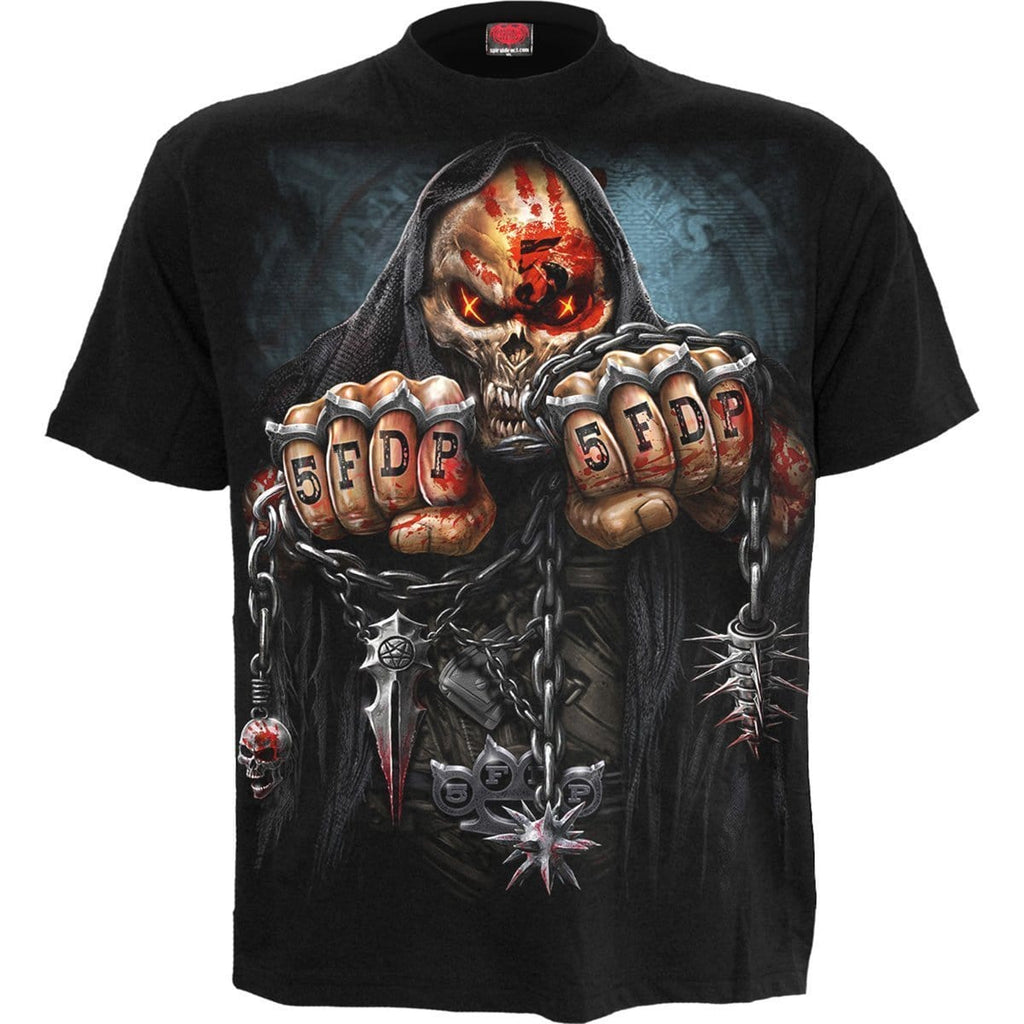 5FDP - GAME OVER - Licensed Band T-Shirt Black - Spiral USA