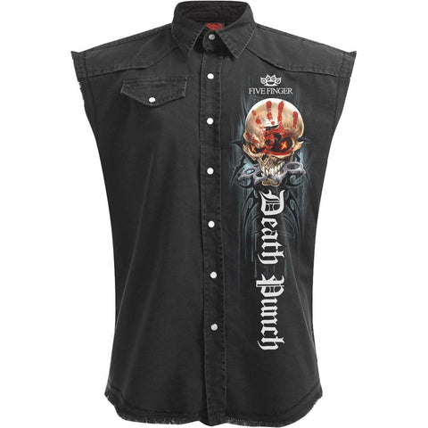 5FDP - GAME OVER - Licensed Band Stone Washed Worker
