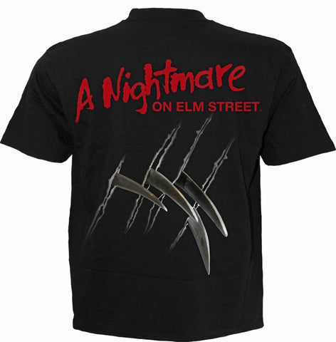 Image of FREDDY CLAWS - ELM STREET - T-Shirt Black - Spiral USA
