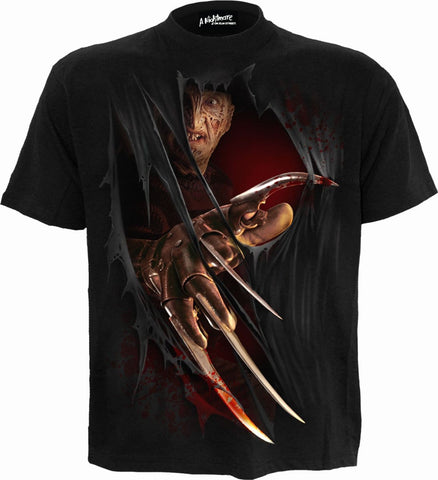 FREDDY CLAWS - ELM STREET - T-Shirt Black - Spiral USA