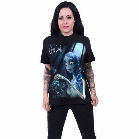 CORPSE BRIDE - GLOW IN THE DARK - Front Print T-Shirt Black - Spiral USA