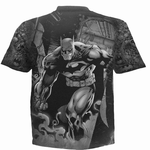 BATMAN - VENGEANCE WRAP - Allover T-Shirt Black - Spiral USA