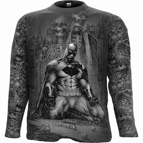 Image of BATMAN - VENGEANCE WRAP - Allover Longsleeve T-Shirt Black