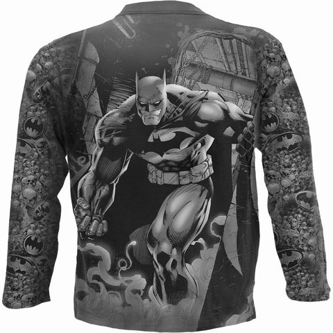 Image of BATMAN - VENGEANCE WRAP - Allover Longsleeve T-Shirt Black - Spiral USA