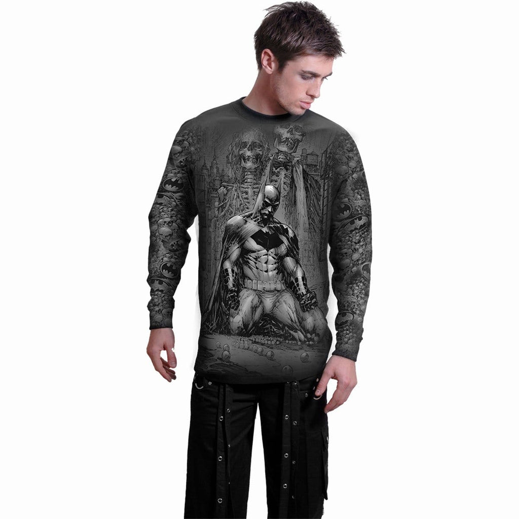BATMAN - VENGEANCE WRAP - Allover Longsleeve T-Shirt Black - Spiral USA