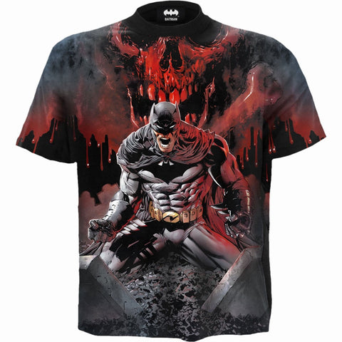BATMAN - ASYLUM WRAP - Allover T-Shirt Black