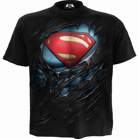 Image of SUPERMAN - RIPPED - T-Shirt Black