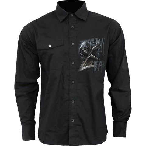 SYMPHONY OF DEATH - Longsleeve Casual Shirt - Spiral USA