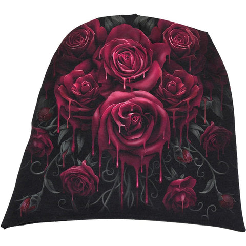 Image of BLOOD ROSE - Light Cotton Beanies Black - Spiral USA