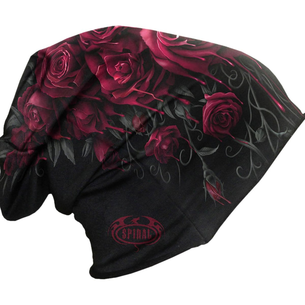 BLOOD ROSE - Light Cotton Beanies Black - Spiral USA