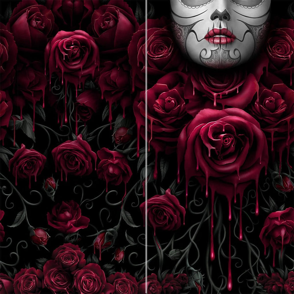 BLOOD ROSE - Multifunctional Face Wraps - Spiral USA