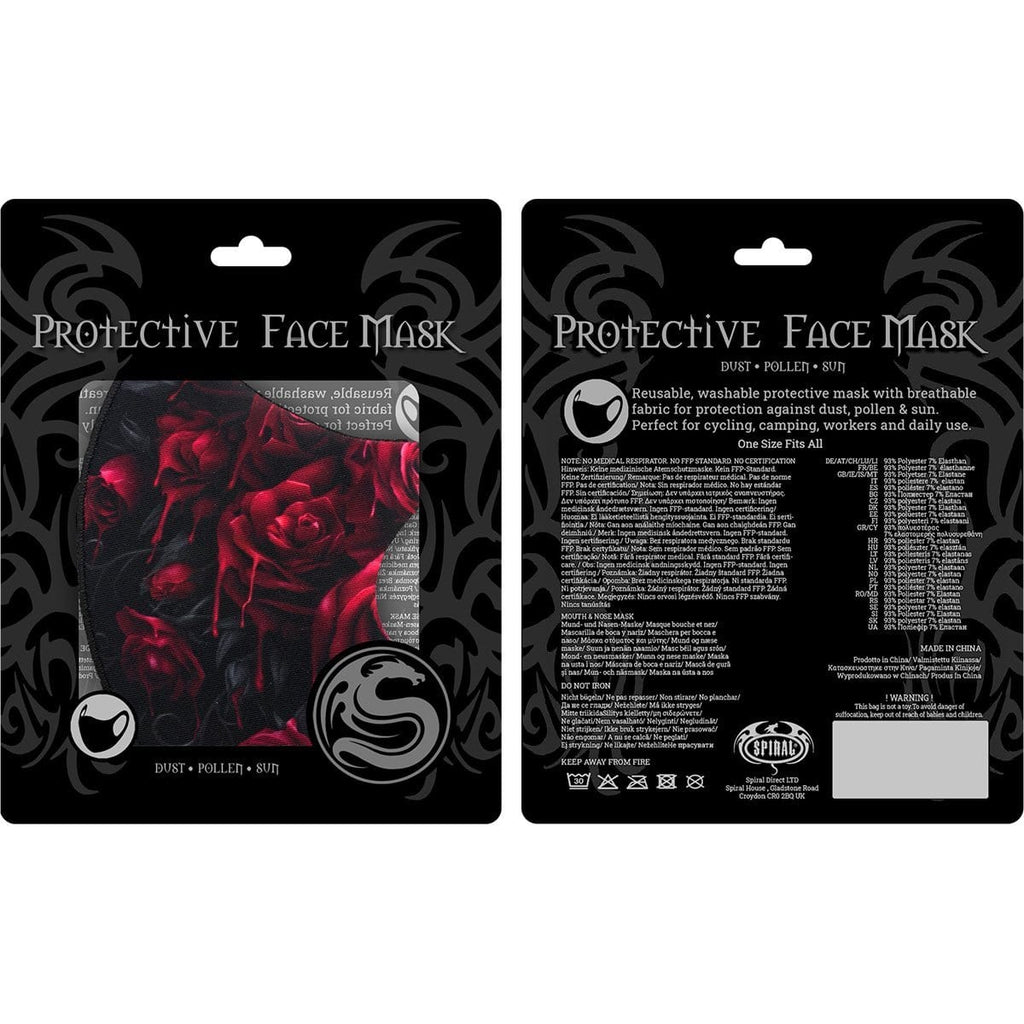 BLOOD ROSE - Face Mask - Spiral USA