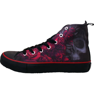 BLOOD ROSE - Sneakers - Ladies High Top Laceup - Spiral USA