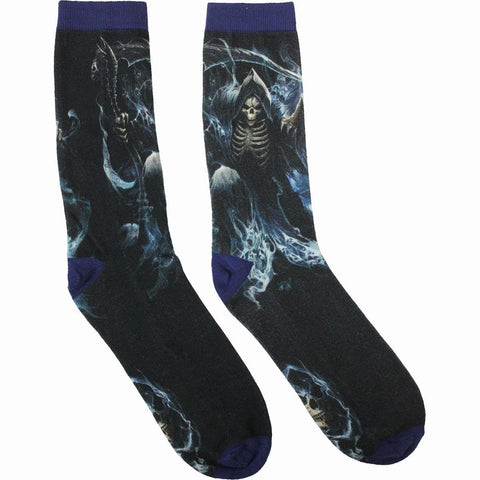 Image of GHOST REAPER - Unisex Printed Socks - Spiral USA