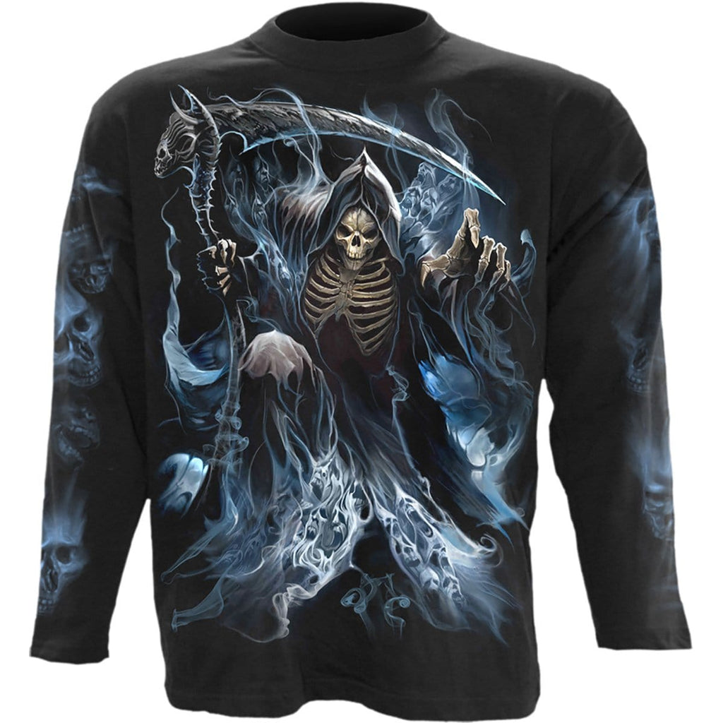 GHOST REAPER - Longsleeve T-Shirt Black - Spiral USA