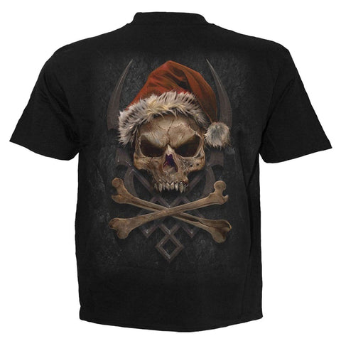 Image of ROCK SANTA - T-Shirt Black - Spiral USA