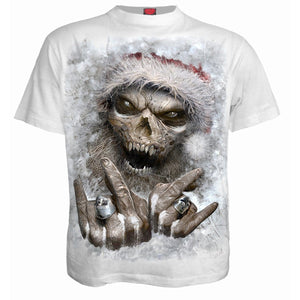 ROCK SANTA - T-Shirt White - Spiral USA