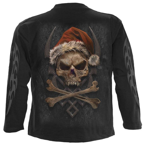 ROCK SANTA - Longsleeve T-Shirt Black - Spiral USA