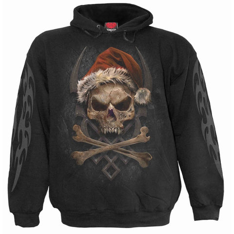 ROCK SANTA - Hoody Black - Spiral USA