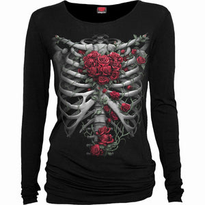 ROSE BONES - Baggy Top Black - Spiral USA