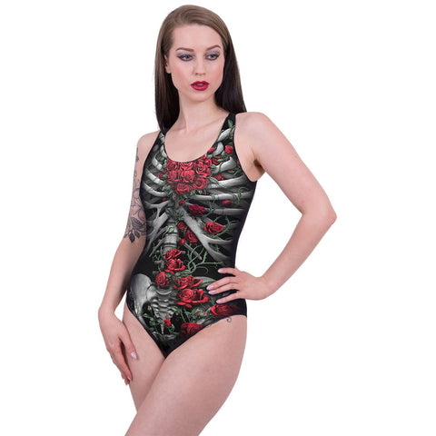 Image of ROSE BONES - Allover Scoop Back Padded Swimsuit - Spiral USA