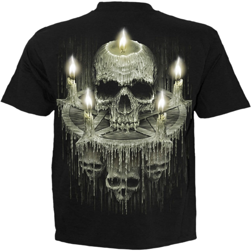 WAXED SKULL - T-Shirt Black - Spiral USA