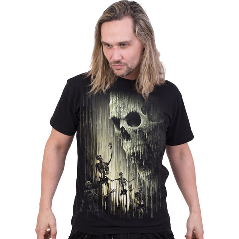 Image of WAXED SKULL - T-Shirt Black - Spiral USA