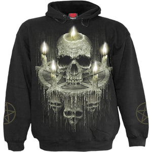 WAXED SKULL - Hoody Black - Spiral USA