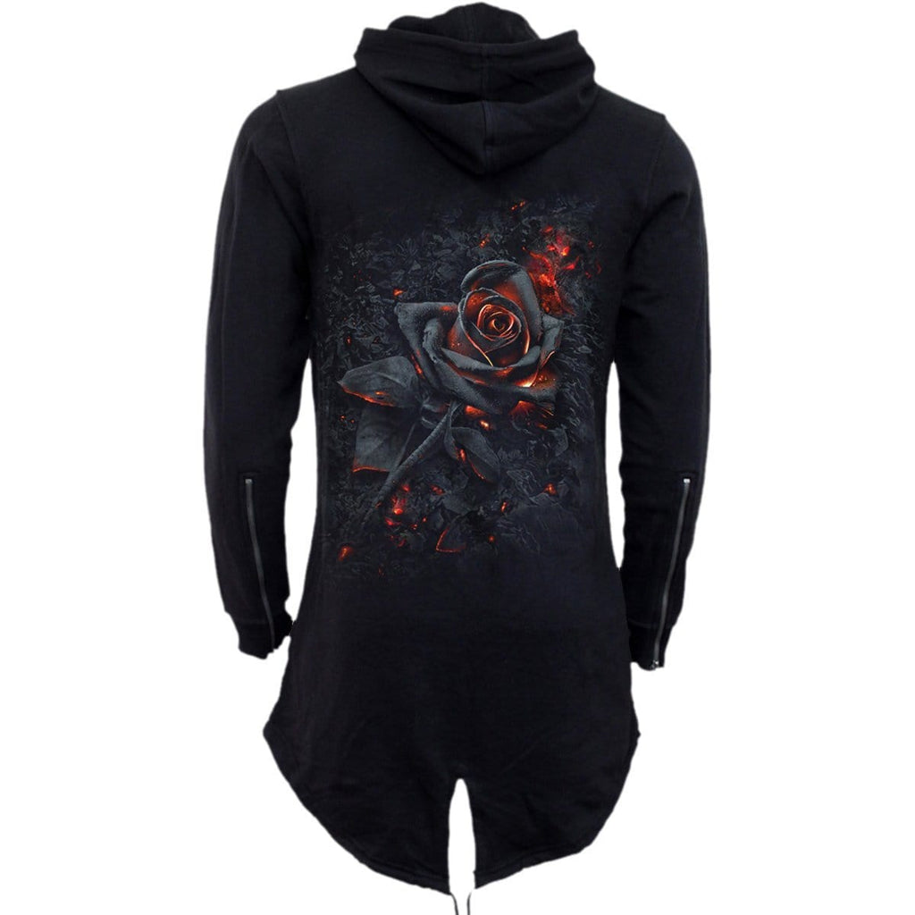 BURNT ROSE - Ladies Fish Tail Full Zip Hoody - Zip Sleeve - Spiral USA