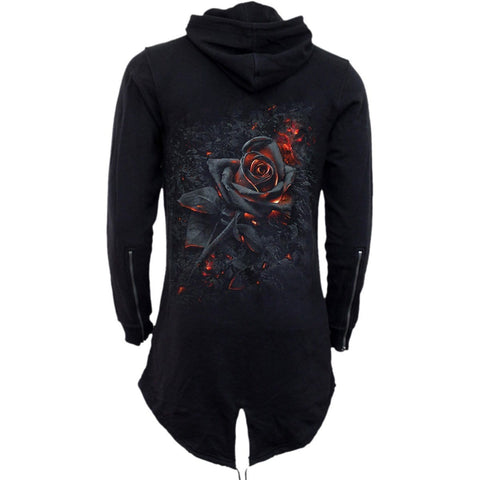 Image of BURNT ROSE - Ladies Fish Tail Full Zip Hoody - Zip Sleeve - Spiral USA