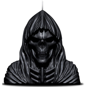 WAX REAPER WITH SKULL - Candle with Metal Sculpture - Spiral USA