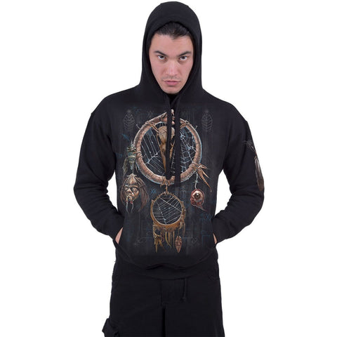 Image of VOODOO CATCHER - Hoody Black - Spiral USA