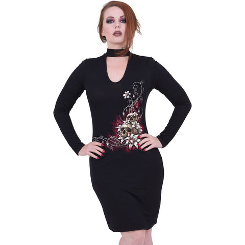 BLOOD TEARS - Neck Band Elegant Dress - Spiral USA