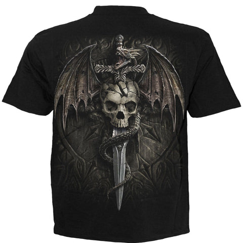 Image of DRACO SKULL - T-Shirt Black - Spiral USA
