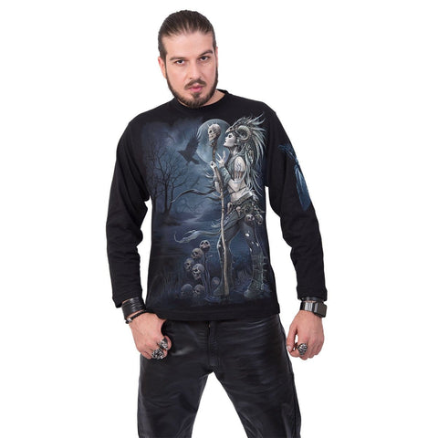 Image of RAVEN QUEEN - Longsleeve T-Shirt Black - Spiral USA