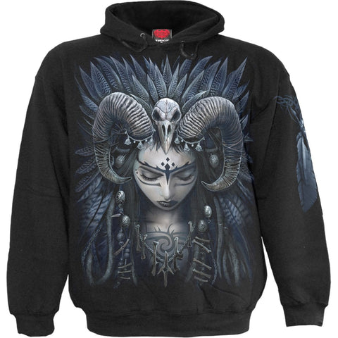 RAVEN QUEEN - Hoody Black - Spiral USA