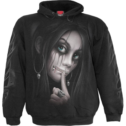 Image of ZIPPED - Hoody Black - Spiral USA
