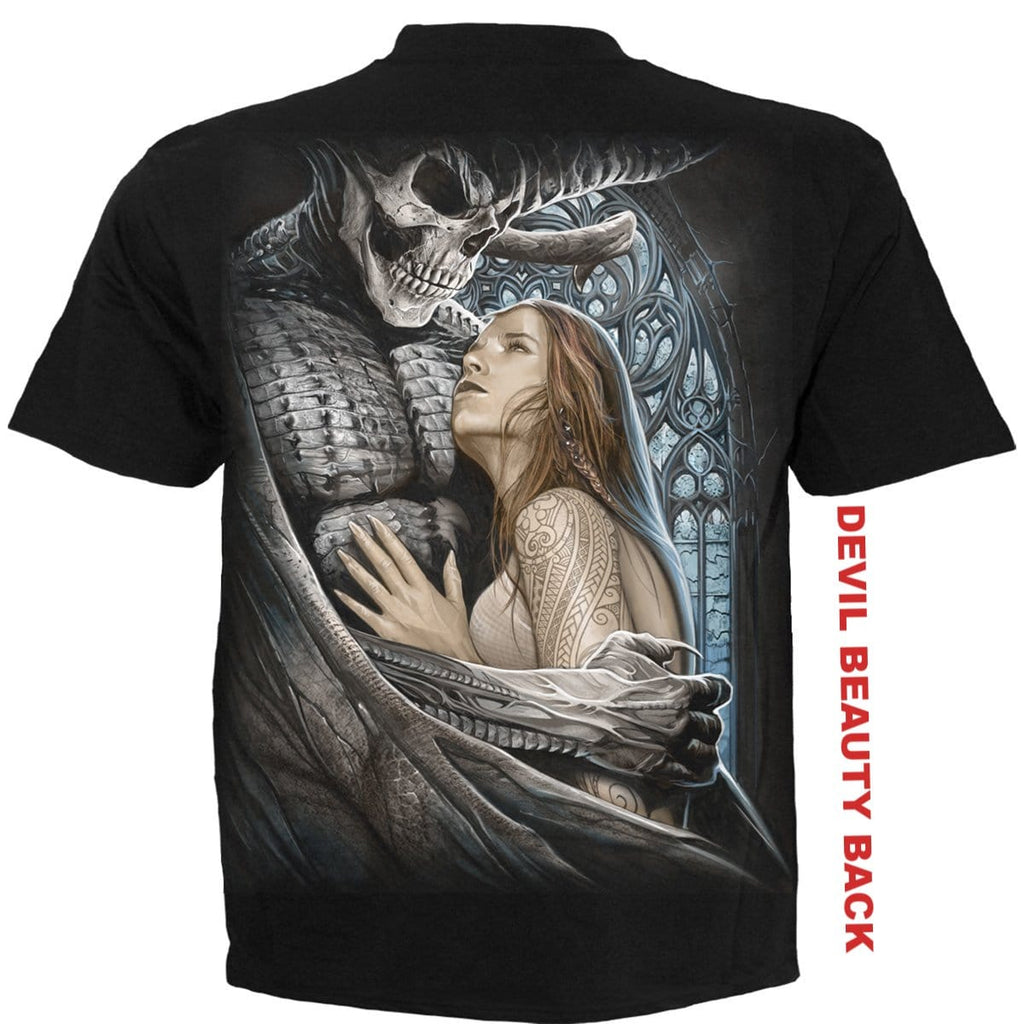 DEVIL BEAUTY - T-Shirt Black - Spiral USA